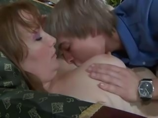 Mom Redhead Big Tits Kissing Russian Granny Mature