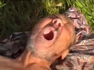 Russian teen fucks hoboes oldman outdoors