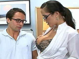 Anal Big Tits Brunette Glasses Lingerie MILF Pornstar Teacher