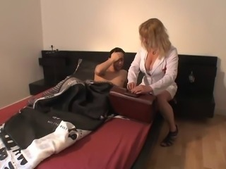 Big Tits French MILF Nurse Pornstar Uniform