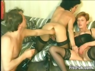 Horny old sluts categorizing and fisting part6