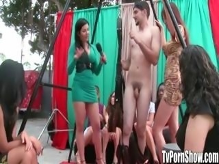 Amateur Babes Try Out Sex Positions on Sex Swing in Public