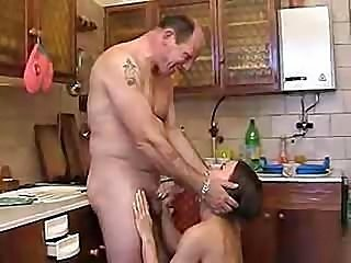 Dirty Father Having A Nice One With His Totally Hairy And Horny Daughter