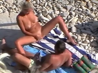 Beach Masturbating Mature Outdoor Voyeur