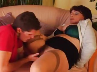 Prudish tree mature fucked by young guy