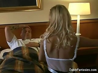 Babe Blonde European Maid Pornstar