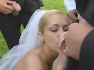 Bride in unseat fuck after wedding