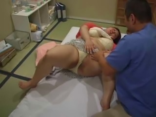Super Heavy Asian Woman goes for a Massage (Censored)
