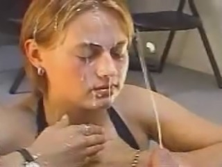 Blonde Bukkake Facial Teen