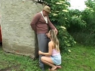 Outdoor  fuck with a nice teen