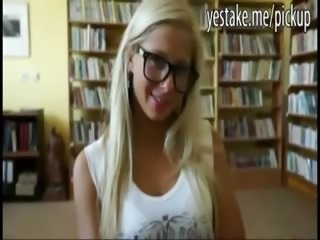 Blonde euro teen analed in the library