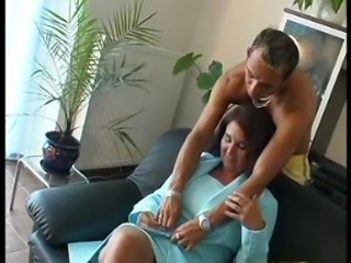 SEXY MOM 61 redhead full-grown with a young alms-man