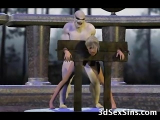 Ogres coupled with Aliens Fianc� 3D Girls