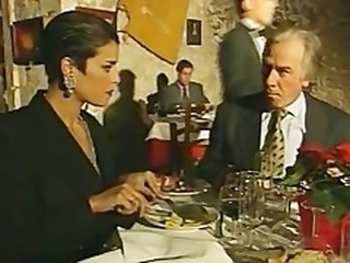 Elegant Italian Mature cheating husband on lunch-room bathroom
