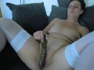 Mature Amateur with a Big Dildo
