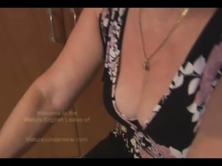 Attractive busty granny everywhere hairy pussy in teasy workout