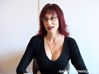 Big Tits Glasses Mature Redhead Teacher