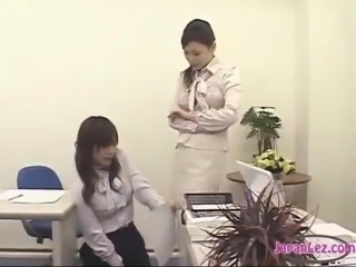 Office Lady Getting Her Pussy Stimulated With Remote Controlled Vibrator...