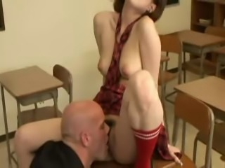 Asian schoolgirl disciplined by teacher
