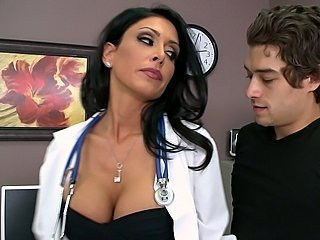 Big Tits Brunette Doctor MILF Pornstar Uniform