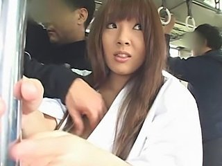 japan bus facial big tits kimono brunette