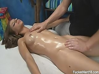 18 Years Old Girl Gets Fucked Hard During Massage