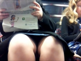Upskirt on tube