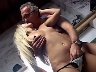 Blonde Teen Small Tits Kissing Old and Young Amateur Daddy Russian