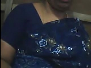 mature indian woman in saree on cam