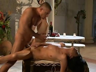Gorgeous India Summer fucked by muscular stud