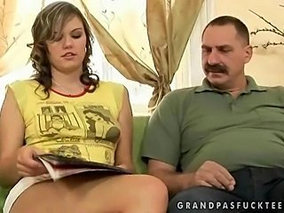 Teen enjoys hard sex with grandpa by reno78
