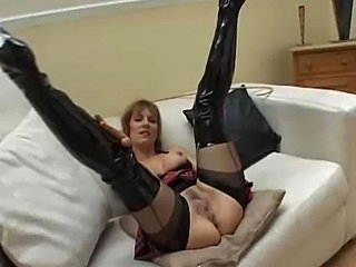 Big Tits Hairy Latex Mature Pussy Stockings