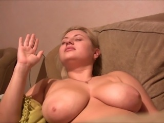 russian blondie in all directions huge brest get facial