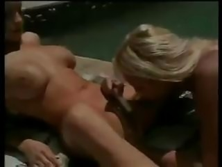 Poolside pussy play for these two lovely blonde girlfriends