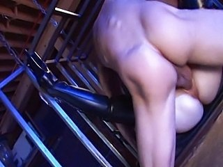 Aiden Starr fucks in burnish apply cage