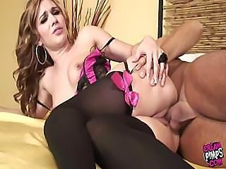 Dakota In Corset Together with Stockings Gets Fucked Hard
