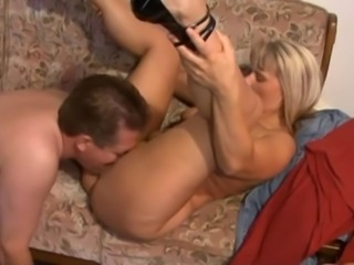 Amateur Blonde German Licking Mature