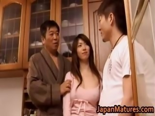 Japanese MILF Threesome