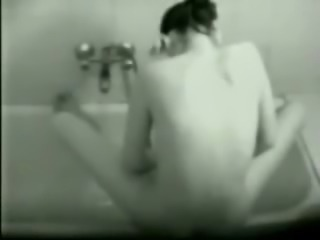Love to spy my sister having fun near bath tube
