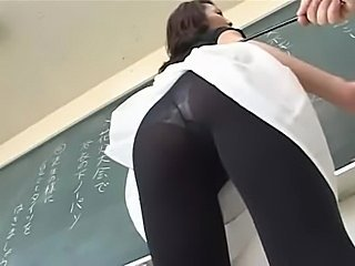"A Sexy Teacher With Panty Stokings"" target=""_blank"