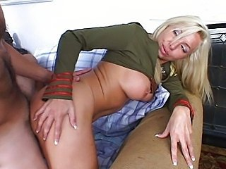 Blonde ass soldier