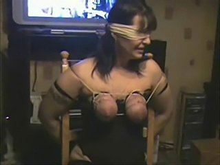 Whipping tits of my duteous whore. Amateurish