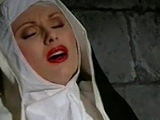 Nuns accounting footjob & dildo to masturbate in nunnery