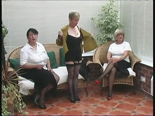 Vintage Stripping from team a few Mature Village Ladies