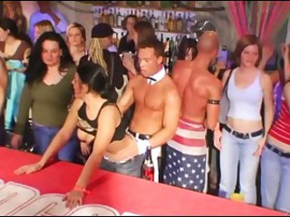 Lots Of Horny Babes Sucking Big Cocks In This Wild CFNM Sex Party