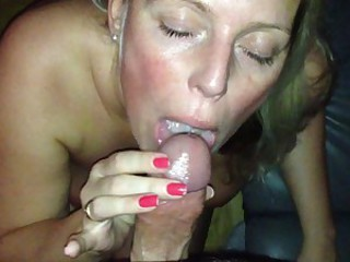 MILF getting facial after been fucked