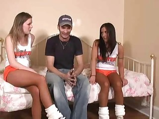 Amateur Cheerleader Cute Teen Threesome