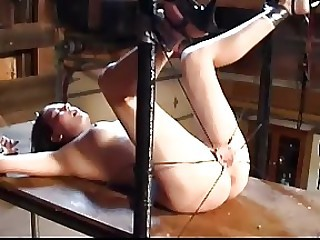 Bound Submissive Receives A Cunt-Busting Pussy Whipping