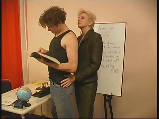 Russian mature teacher and her student1