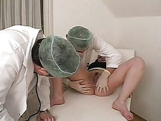 Medical threesome bisexual shagging around